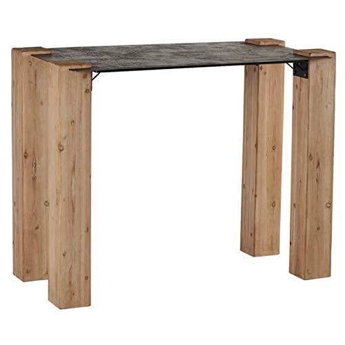 MATHI DESIGN Quatro- Table Haute Bois et Acier