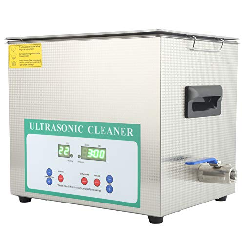 XINL Lavadora, Limpiador ultrasónico Temporizador de Acero Inoxidable Función de eliminación de Burbujas(AC220V European Plug)