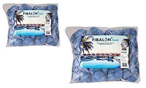 2 x FIBALON ROPE - Hochinnovativer Polymerfaserfilter für Pool Sandfilteranlagen mit 8 verbundenen FIBALON-Netzen