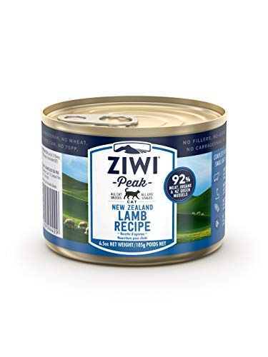 ZIWI Peak Canned Wet Cat Food – All Natural, High Protein, Grain Free, Limited Ingredient, with Superfoods (Lamb, Case of 12, 6.5oz Cans)
