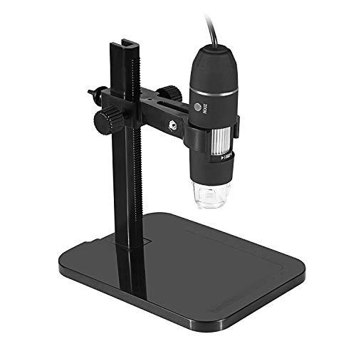 Uteruik Microscopio Digital USB 20X-1000X 8 LED Microscopio Endoscopio Lupa PC Cámara Enseñanza Reparación Cosmetología Piel Lupa Enviar Elevador