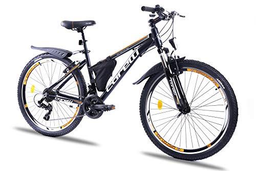 Corelli Twister Mountainbike 20 Zoll, 24 Zoll oder 26 Zoll mit Aluminium-Rahmen, V-Brake, Shimano 21 Gang-Schaltung, Gabelfederung, als Damen-Fahrrad, Mädchen-Fahrrad, Kinder-Fahrrad. (orange, 26.0)