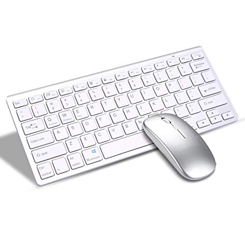RYRA Wireless Keyboard Mouse,2.4GHz Ergonomic Ultra Thin Compact Portable Bluetooth Keyboard and Mouse Combo Set for PC, Desktop, Computer, Notebook, Laptop, Windows