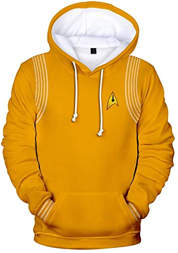 Sweat à capuche Star Trek : Discovery Season 3 Cosplay Sweat à capuche unisexe Matériau tendance Unisexe Couleur : Q Taille : L