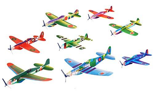 Vynche Gleitflugzeuge Kinder 8 Stück: Flying Gliders Kindergeburtstag Spiele Draussen Oder Drinnen
