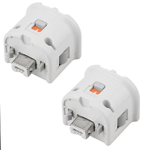 REDGO 2X Motion Plus Adapter Sensor for Nintendo Wii Wii U Remote Controller White
