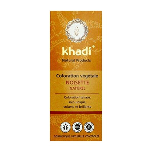 Khadi Plantaardige haarkleur, hazelnoot, natuurlijk, 100 g, bio