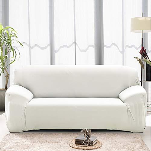 WYSTLDR Einfarbige Stretch-Sofabezug aus Baumwolle, Wohnzimmer-Kombinationssofatuch, L-förmiger Sesselbezug, Sofabezug für Haushaltswaren 2-Sitzer 145-185 cm