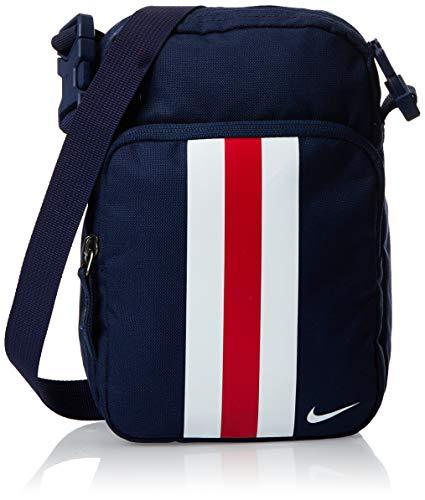 Nike NK Stadium PSG Smit Schultertasche für Freizeit und Sportbekleidung, Herren, Unisex, mehrfarbig + (Midnight Navy/University Red/White), Einheitsgröße