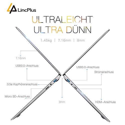 LincPlus 13.3″ FHD Laptop Neueste Intel Celeron 4GB 32GB Bis zu 512 GB Bild 3*