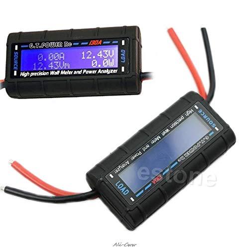 2018 GTPOWER RC 130A Medidor de vatios y analizador de potencia LCD de alta precisión 60V GT-Power