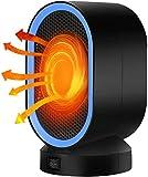 SISTOUSEN Calentador Pequeño Portátil De 400 W, con Termostato Calentador De Cerámica Seguro Y Silencioso para Uso En El Interior del Escritorio De La Habitación De La Oficina En El Hogar