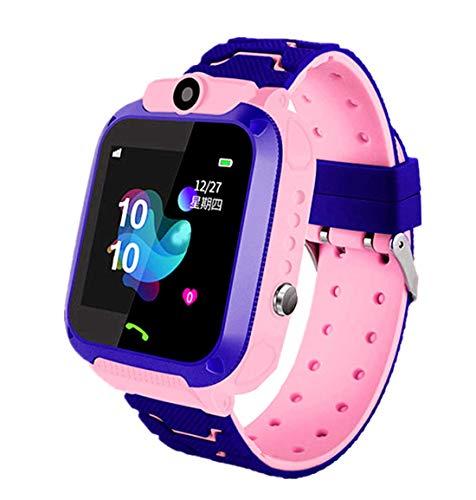 linyingdian Smartwatch Niños, Reloj Inteligente Niña IP67, LBS, Hacer Llamada, Chat de Voz, SOS, Modo de Clase, Cmara, Juegos, Regalo para Niños de 3-12 años, soporta 2G tarjetáas Micro SIM (Rosa)