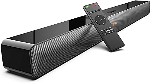 Soundbar 2.0, 120 W Bluetooth 5.0, 110 DB, 37 Pollici, Tecnologia 3D Bass Surround DSP, Progettato per l'home Cinema, Supporta HDMI ARC/Optical/USB/AUX, nero