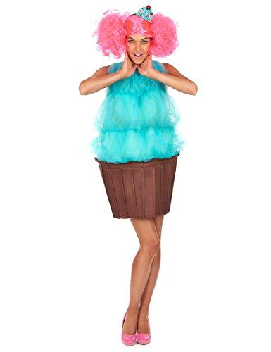 Vegaoo - Disfraz Cupcake Turquesa Mujer - Talla única