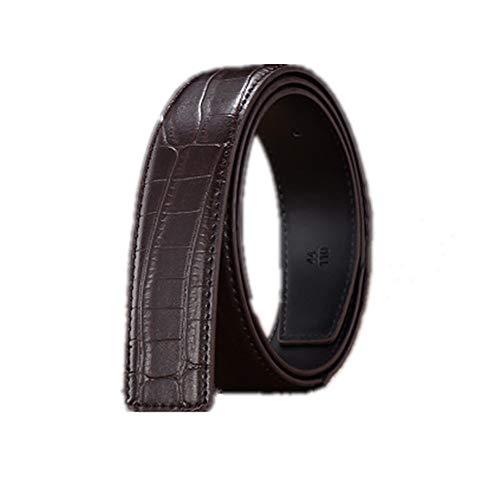 Riem voor heren Automatische Buckle Headless Men's Belt retro heren Belt Korte Vogue Casual Jeans Shorts Pants Verstelbare Riemen Zakelijke kansen, woon-werkverkeer (Color : 2, Size : 125cm)