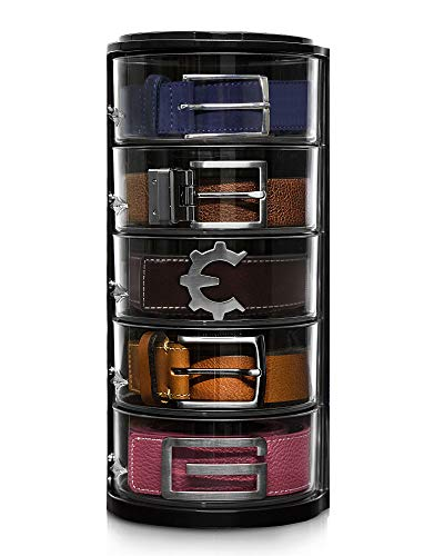 ELYPRO Belt Organizer  Acrylic Organizer and Display for Accessories like Belts Jewelry Watch Case Cosmetics Makeup Organizer Bow Ties Bracelets Crafts Toys Compact Closet Organizer