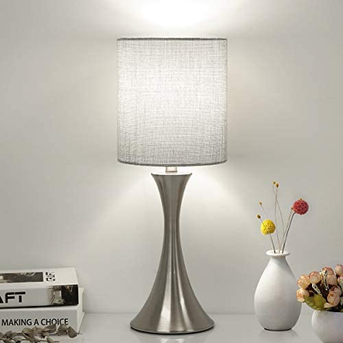 3 Way Touch Control Table Lamp Dimmable Bedside Desk Lamp with Metal Base Modern Nightstand product image