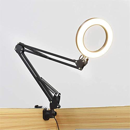 AOWU Office Lamp5X Lupa iluminada USB 3 colores LED Lupa de lectura