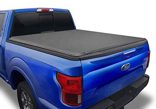 Tyger Auto T1 Soft Roll Up Truck Bed Tonneau Cover Compatible with 2017-2021 Ford F-250 F-350 Super Duty | Styleside 6.75' Bed | TG-BC1F9127