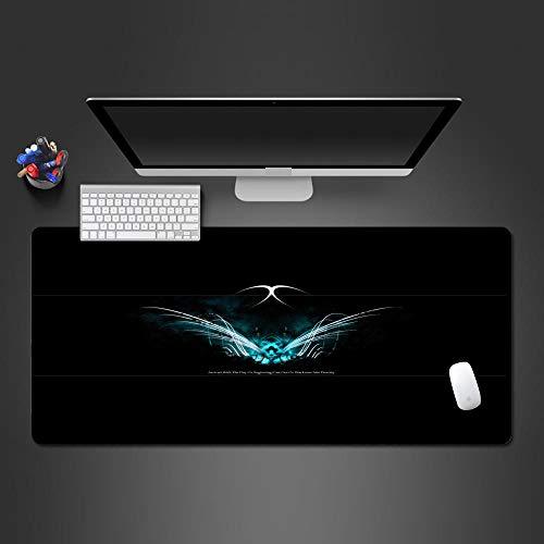 JIACHOZI Alfombrilla de Raton XL Creatividad Azul alas patrón 800×400×3mm Alfombrilla para Juegos XXL Alfombrilla de ratón para computadora, Adecuada para Grandes Almohadilla de Escritorio,Alfombrill