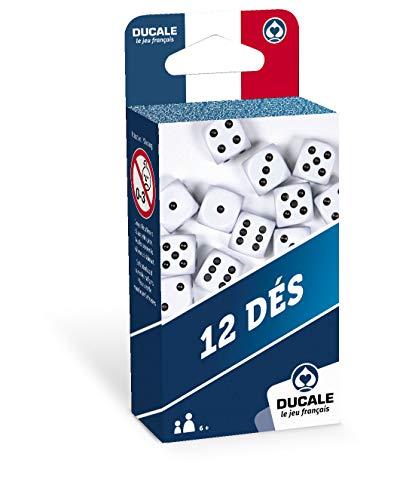Ducale, le jeu français- Lot de 12 18mm dés-Jeu de Voyage, 1