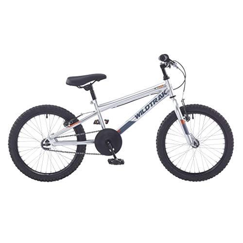 WildTrak Boys WT007 9X20 SGL Silver Bike, 20 inch Wheel
