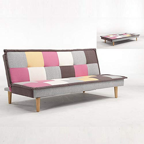 Mobilier Deco Paddy - Banquette Clic Clac Design 3 Places Multicolore Rose