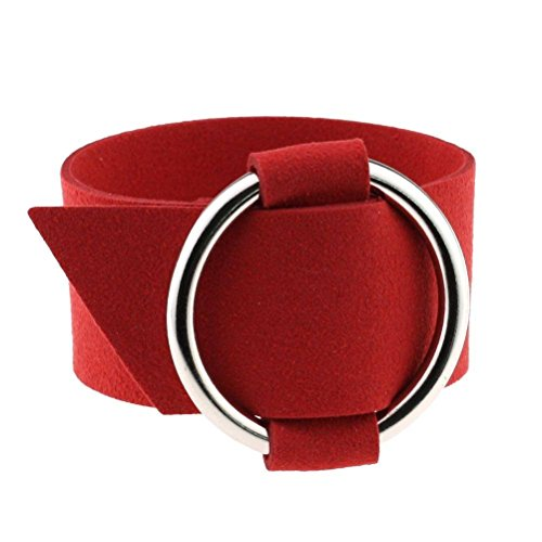 COMVIP Damen Armkette Armkettchen Armbänder Wickelarmbänder Armreifen,25cm Länge/3.2cm Breite Rot