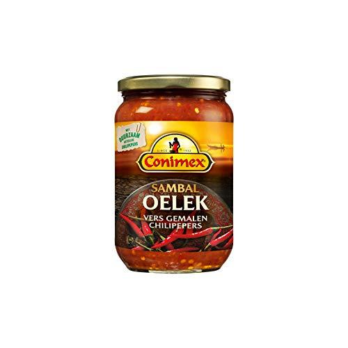 Conimex Sambal Oelek - Scharfe Chilipaste - 200g - Packung mit 6 Stück