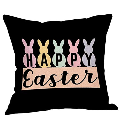 1PC Easter Throw Pillow Cover Sofa Cover Cushion Cover Home Decoration, Pillow Case, for Easter Day (C)