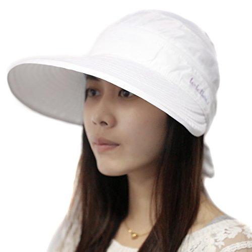 Fletion - Cappello da sole estivo da donna, per ciclismo, protezione solare, protezione UV, per esterni, parasole, tennis, golf, confezione usa e getta