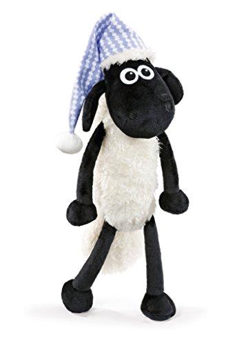 Nici 41465 Shaun das Schaf Kuscheltier mit Schlafmütze, 35 cm, Farbe: Weiß/Schwarz