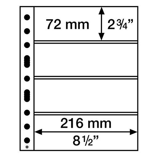 Leuchtturm Kunststoffhüllen SH 312, 4 Taschen quer für Banknoten, PP, klar, 50er Pack
