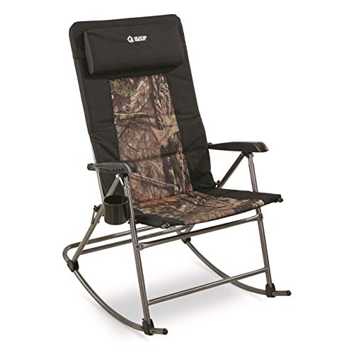 Guide Gear Oversized Rocking Camp Chair, 500-lb. Capacity, Mossy Oak Break-Up Country, Mossy Oak Country Camo