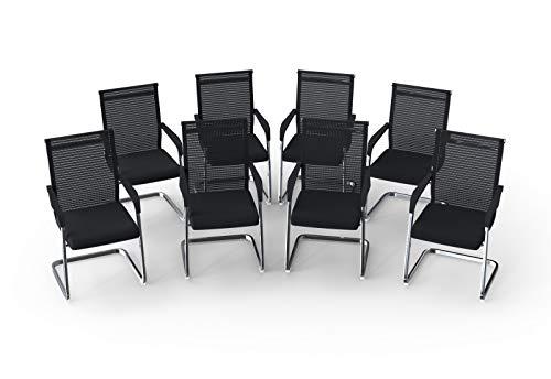 Konferenzstühle & Besucherstühle Modell MARINA (8er-Set) stapelbar