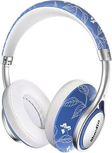 Bluedio A2 (Air 2) Stylish Bluetooth Headphones with Mic, 3D Surround Sound Flexible Foldable Lightweight Over Ear Wireless Headphones with Carrying Case for Cell Phones/PC/TV (China)