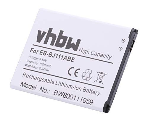 vhbw Li-Ion batería 1800mAh (3.8V) para teléfono Smartphone Samsung Galaxy J1 Ace, J1 Ace 3G Duos, J1 Ace Dual SIM 3G por EB-BJ111ABE.