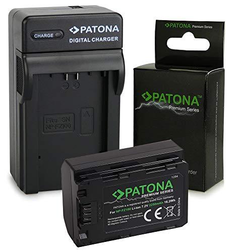 PATONA 3in1 Caricatore + Premium Batteria NP-FZ100 compatibile con Sony Alpha 9, 7 III, 7R III,