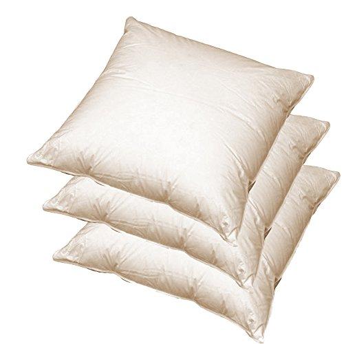 3 x Sofa Federkissen 45x45 cm (echte Federn) robust & formstabil