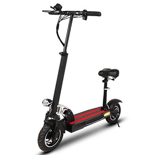 Super-ZS Elektrische fiets, inklapbaar, 48 V, scooter voor volwassenen (21 A, lithium batterij, vaste snelheid) (zwart, wit)
