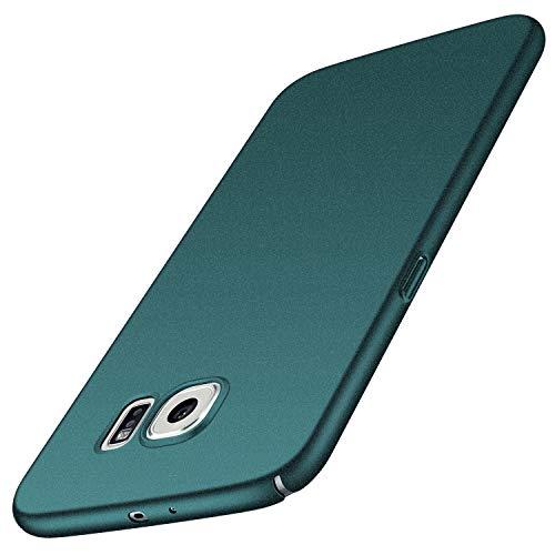 Avalri Cover Galaxy S6, Minimalista Design Ultra Sottile Case Rigida in PC Antiurto Anti-Graffio Custodia per Samsung Galaxy S6 (Ghiaia Verde)