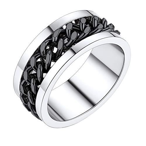 PROSTEEL Spinning Rings for Women Boys Men Size 7 Anxiety Stress Rings Fidget Spinner Ring