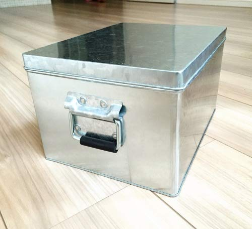 無印良品 トタンボックス・フタ式・小 約幅20×奥行26×高さ15cm 日本製