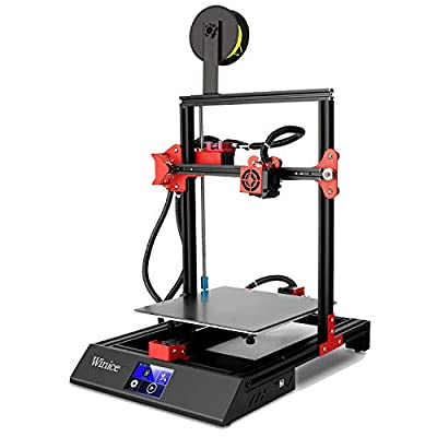 M09 3D Printer, Winice Larger-Size 3D Printer High Accuracy Double Z-Axis with Glass Bed Plate, Resume Printing Function, 3.5'' Touch Screen, Filament Detection Printers 250x250x270mm