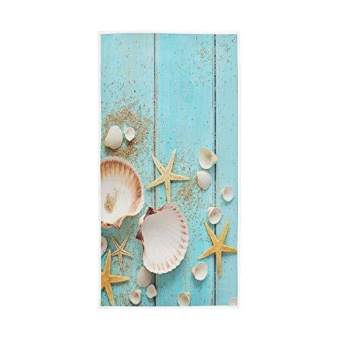 Starfish Hand Towels Summer Beach Seashell Towel Ocean Face Towel Bath Decor Ultra Soft Towels for Bathroom 30'x15'