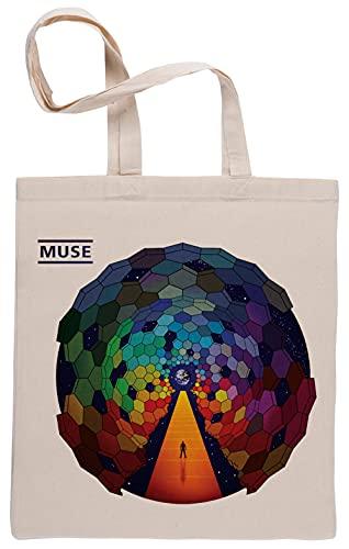 Bioclod Muse Géométrique Cercles Réutilisable Coton Beige Sac de Courses Reusable Cotton Shopping Bag
