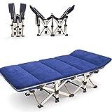 Metálica Tumbona, plegable Tumbona, carga estática, sillas de jardín reclinable resistente a la corrosión Con transpirable sintético tela, 190 × 67 × 37 cm, 200 Kg Max c311 ( Color : With cushion )