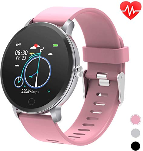 """moreFit 1.3"""" Round Smart Watch with Heart Rate Blood Pressure Monitor,Fitness Tracker..."""