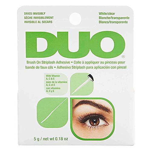 DUO Brush-On Lash Adhesive with Vitamins A, C & E, Clear, 0.18 oz,...